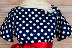 Navy Polka Dot - Maternity Hospital Delivery Bundle