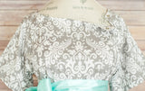 Gray Damask - Maternity Hospital Delivery Bundle