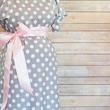Gray Polka Dot - Maternity Hospital Delivery Bundle