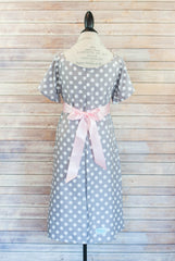 Gray Polka Dot - Maternity Labor & Delivery Hospital Gown