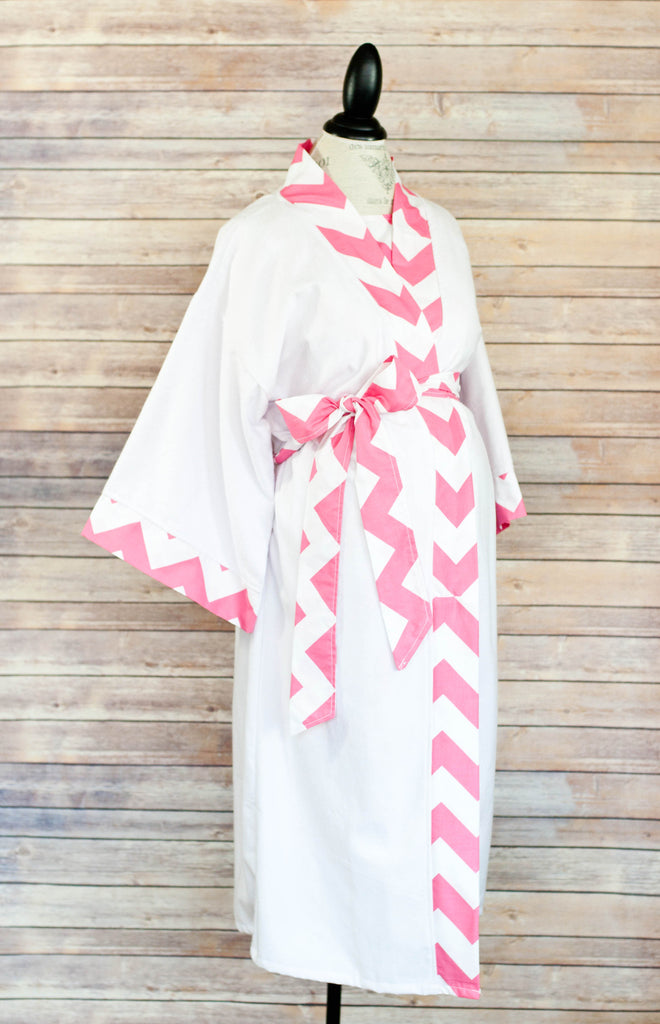 Pink Chevron - Maternity Delivery & Nursing Robe