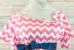 Pink Chevron - Maternity Labor and Delivery Hospital Gown