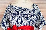 Navy Damask - Maternity Hospital Delivery Bundle