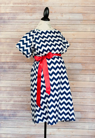 Navy Chevron - Maternity Labor and Delivery Hospital Gown