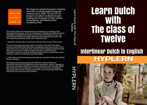 HypLern - Learn Dutch with The Class of Twelve - Front and back cover of the paperback version