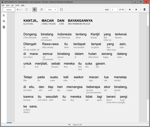 Learn Indonesian just by reading