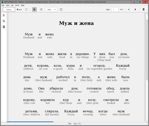 Learn Russian just by reading