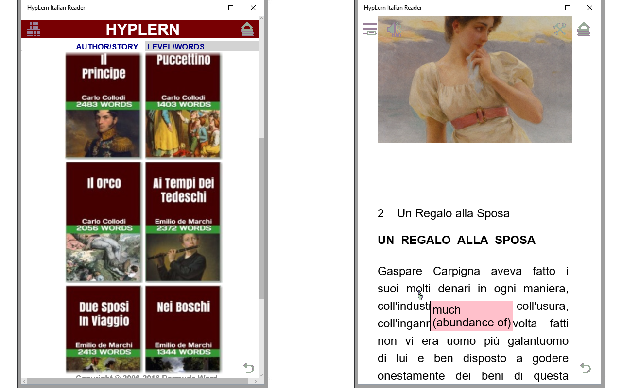 Learn Italian at high speed with HypLern!