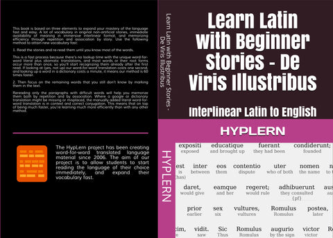 Learn Latin with interlinear stories for beginners and advanced readers