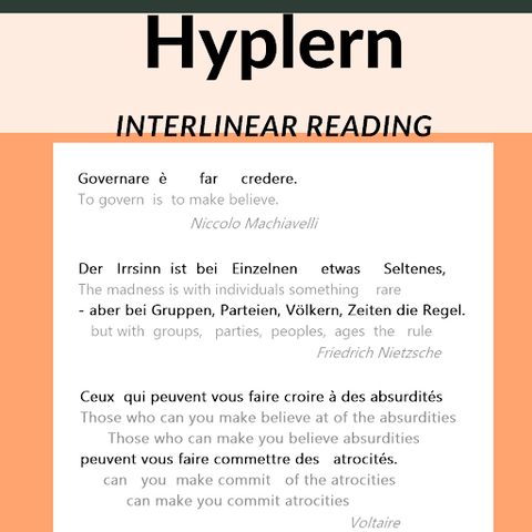 Learn a language with interlinear text