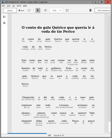 HypLern - Learn Galician With Beginner Stories - Interlinear PDF