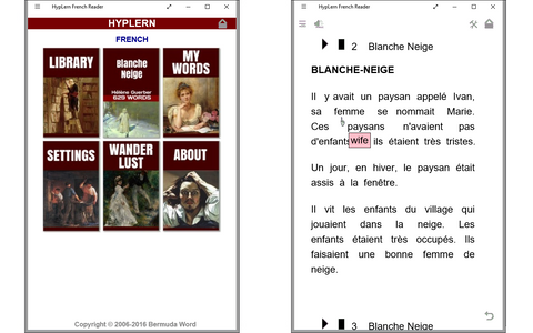 Use HypLern French Reader To Learn French Fast And Easy