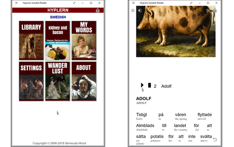 HypLern Swedish Reader - Android