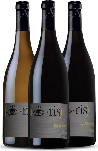 Iris Vineyards logos and labels