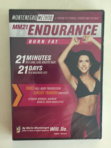 MM21 Endurance Montenegro Method DVD