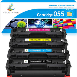 Canon 055 Compatible Toner Cartridge  (Black, Cyan, Magenta, Yellow, 4 Pack)