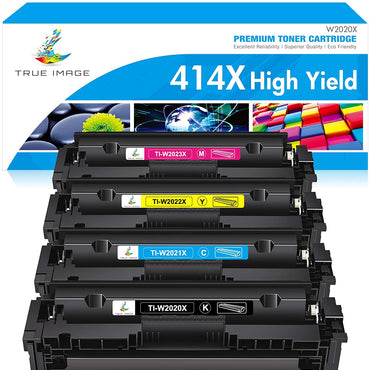 HP 414X W2020X 414 2020 Compatible Toner Cartridge (Black, Cyan, Magenta, Yellow, 4 Pack)