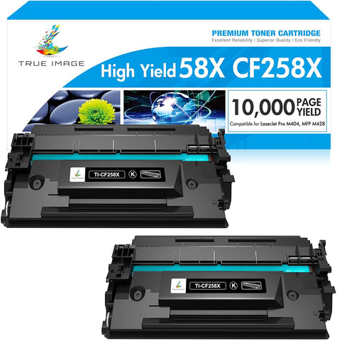 HP CF258X 58X 258 58 Compatible Toner Cartridge (Black,2 Pack)