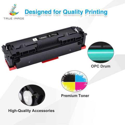 HP 414A W2020A 414 2020 Compatible Toner Cartridge (Black, Cyan, Magenta, Yellow, 4 Pack)