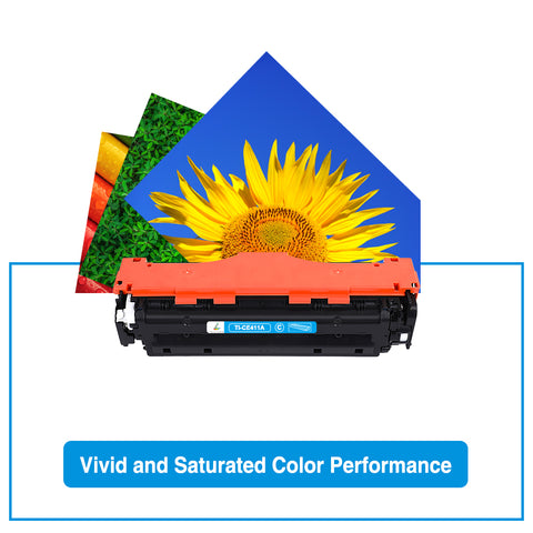 HP 305X 305 CE410X CE410 Compatible Toner Cartridge ( Black Cyan Magenta Yellow, 4 Pack)