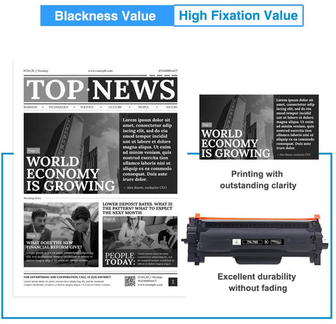 Brother TN 760 TN 730 Compatible Toner Cartridge (Black)