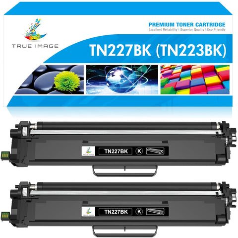 Brother TN227 TN223 227 223 Compatible  Toner Cartridge (Black, 2 Pack)
