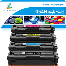 Canon 054 H Compatible Toner Cartridge  (Black, Cyan, Magenta, Yellow, 4 Pack)