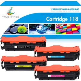 Canon 118 Compatible Toner Cartridge (Black, Cyan, Magenta, Yellow, 4 Pack)