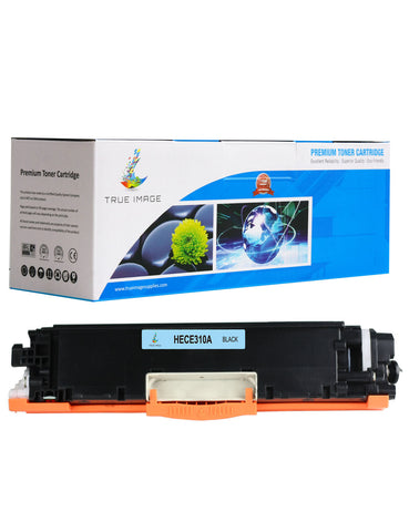 TRUE IMAGE HECE310A-B126A Black Toner Replaces HP CE310A B126A