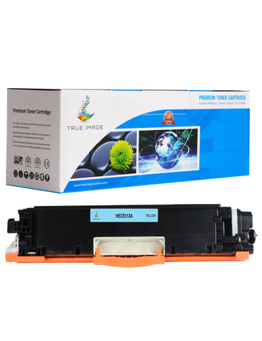 TRUE IMAGE HECE312A-Y126A Yellow Toner Replaces HP CE312A Y126A