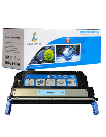 TRUE IMAGE HEQ5951A-C643A Cyan Toner Replaces HP Q5951A(C643A)