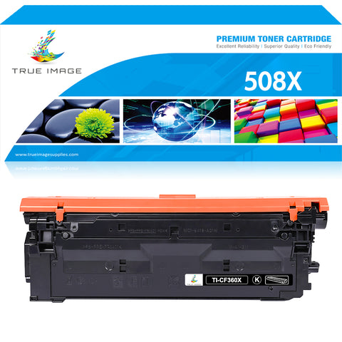 True Image Compatible Toner Cartridge Replacement for HP 508X CF360X 508A CF360A M553 M577 (Black, 1-Pack)