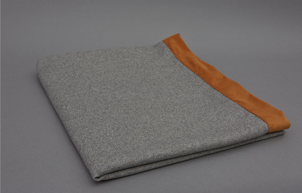 Grey Blue Cashmere Throws
