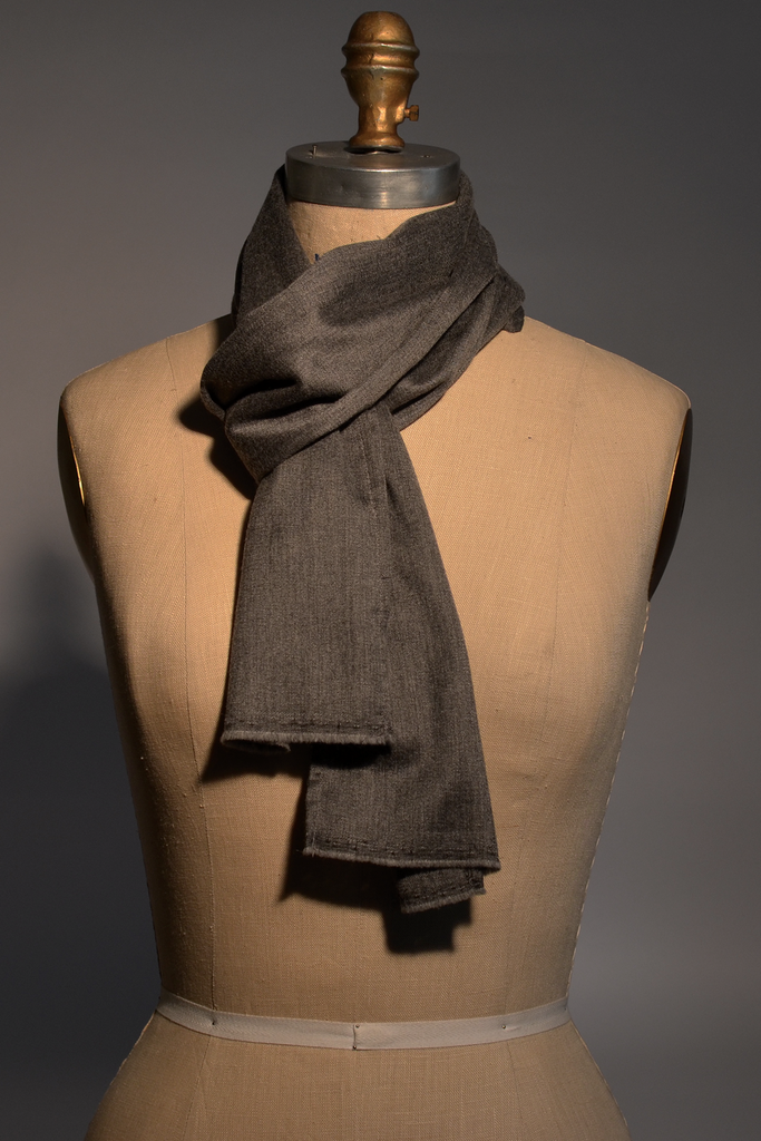 Banker's Grey Cashmere Scarf