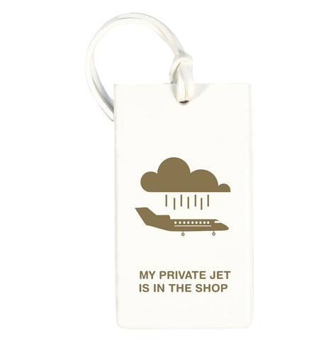 Private Jet Rubber Luggage Tag