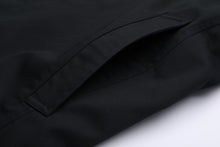 Men's Black Traditional Single Breasted Long Rain Mac