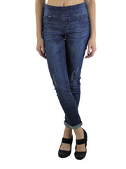 Up! distressed pull on jeans