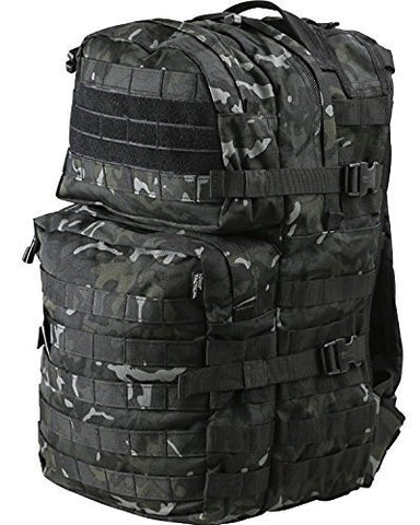 40 ltr Black BTP Medium Molle Military Rucksack - 1st Knight Military Charity Home of the Brave