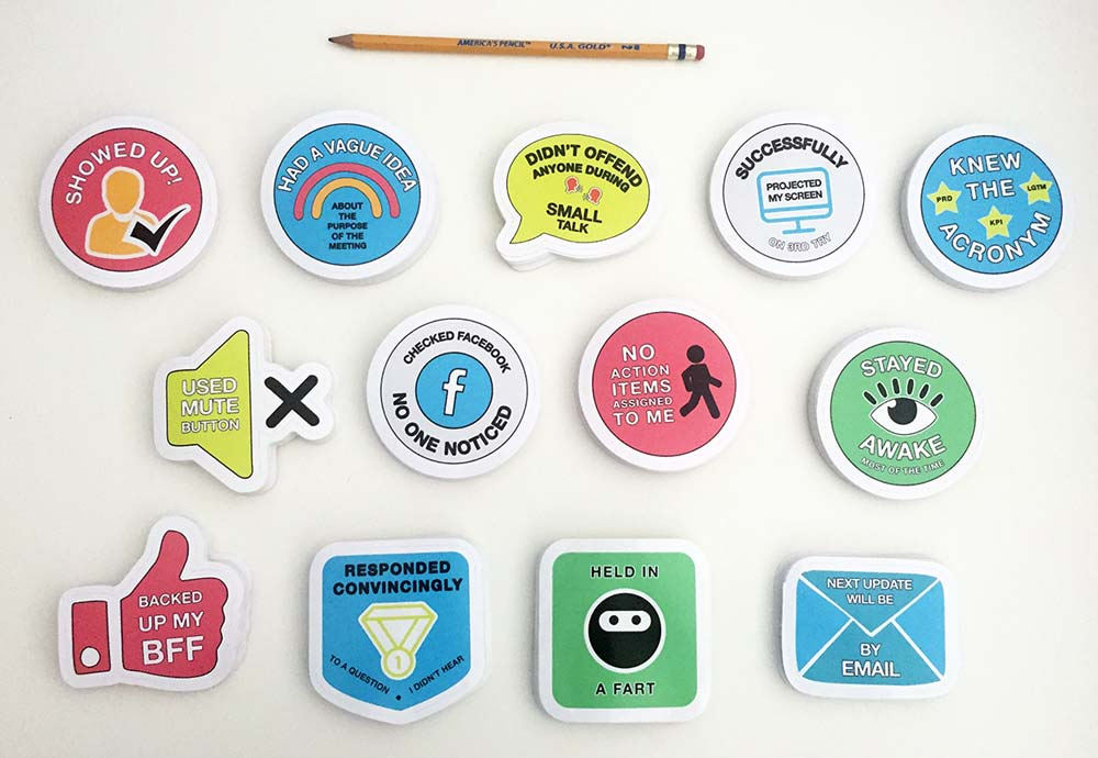 Meeting Achievement Stickers (Set of 13)