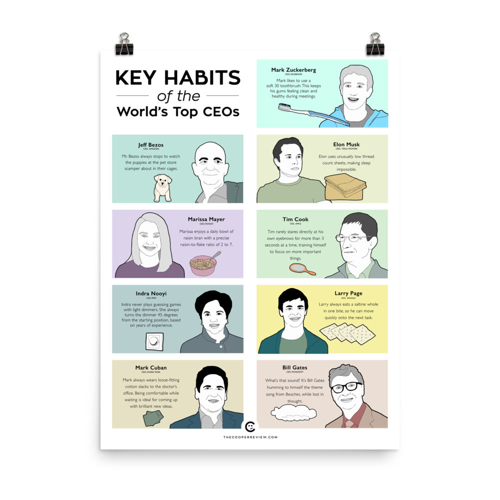 Key Habits of the World's Top CEOs Poster