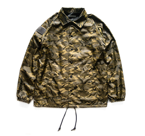 Poly Coach Jacket in Brown Camo