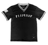 Nationals V-Neck Jersey in Black - Elusive