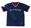 Nationals V-Neck Jersey in Navy - Elusive
