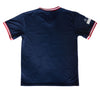 Nationals V-Neck Jersey in Navy