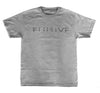 Peace and Death Tee in Heather Gray - Elusive