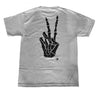 Peace and Death Tee in Heather Gray