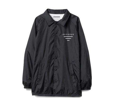 Sideline Coach Jacket in Black