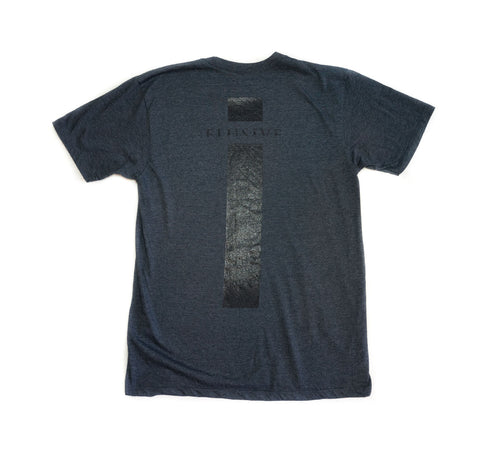 Micrologo Tee in Navy Heather