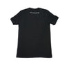 Script tee in Black Heather