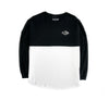 Split L/S Jersey Tee in Black